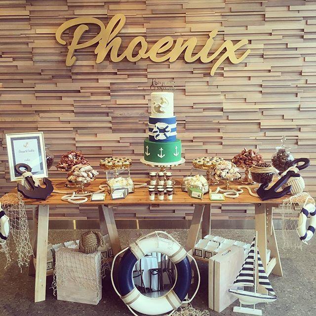 Our set up for baby Phoenix' christening at le sands pavilion! #christening #babyphoenix #desserttable #stylingbykidznstyle #kidznstyle
