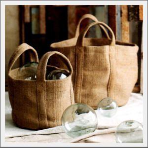 Vintage Glass Floats & Jute Bags...