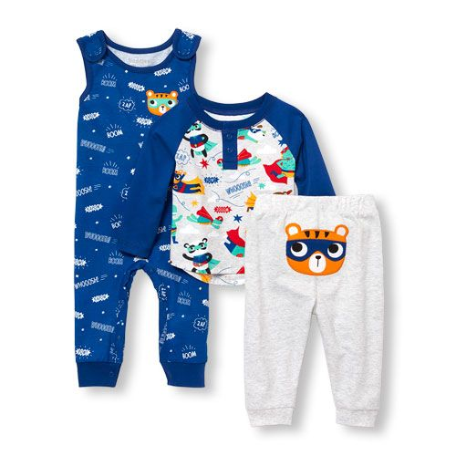 Carter/'s Boys Baby 3 Piece Playwear Pant Set
