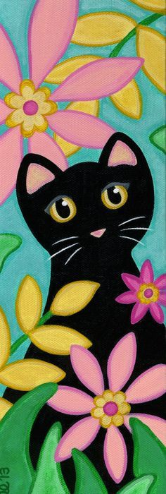 Image Result For Easy Cat Canvas Painting Kids