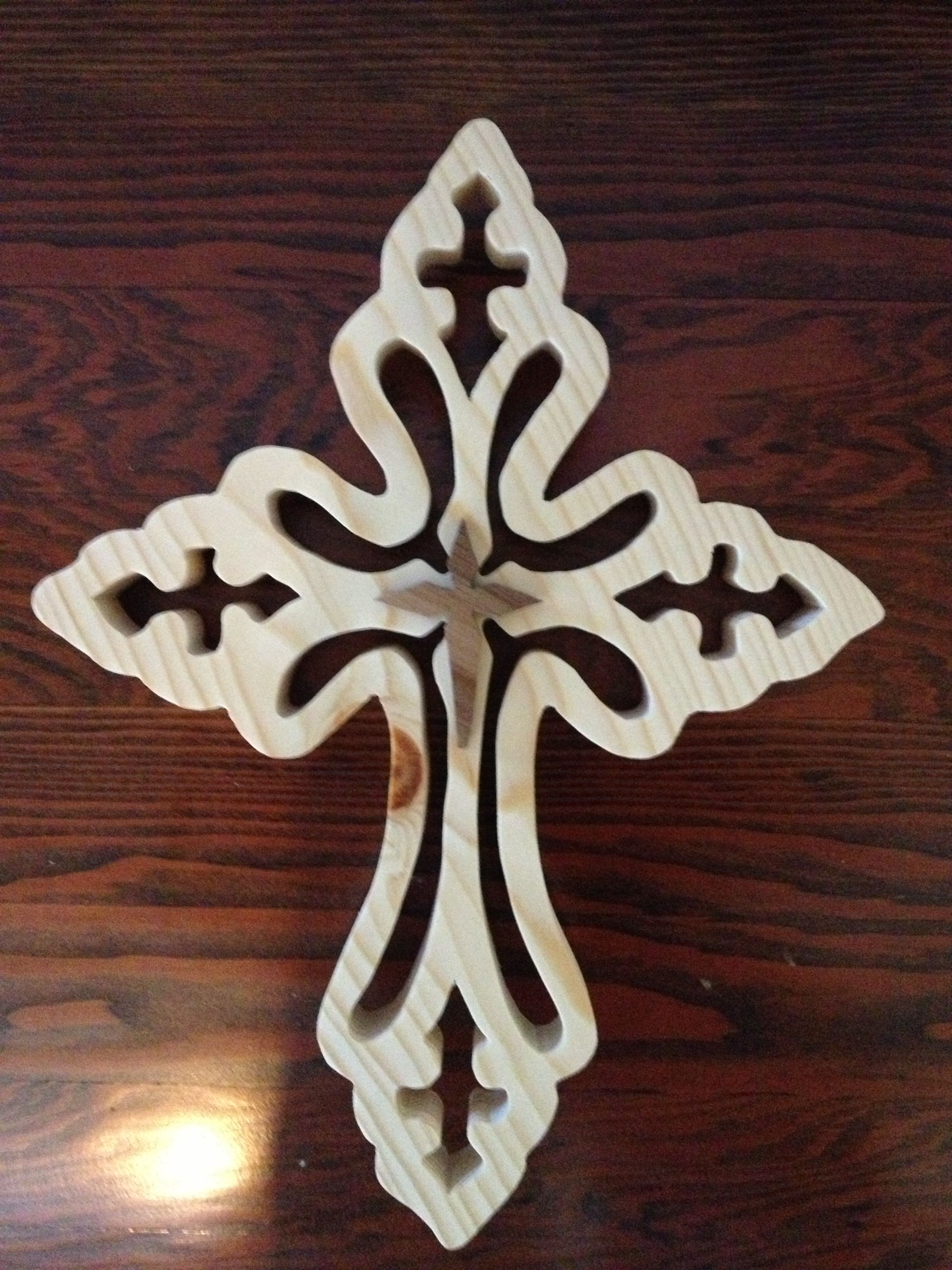 Decorative Wood cross I made | wood work and laser cutting ...