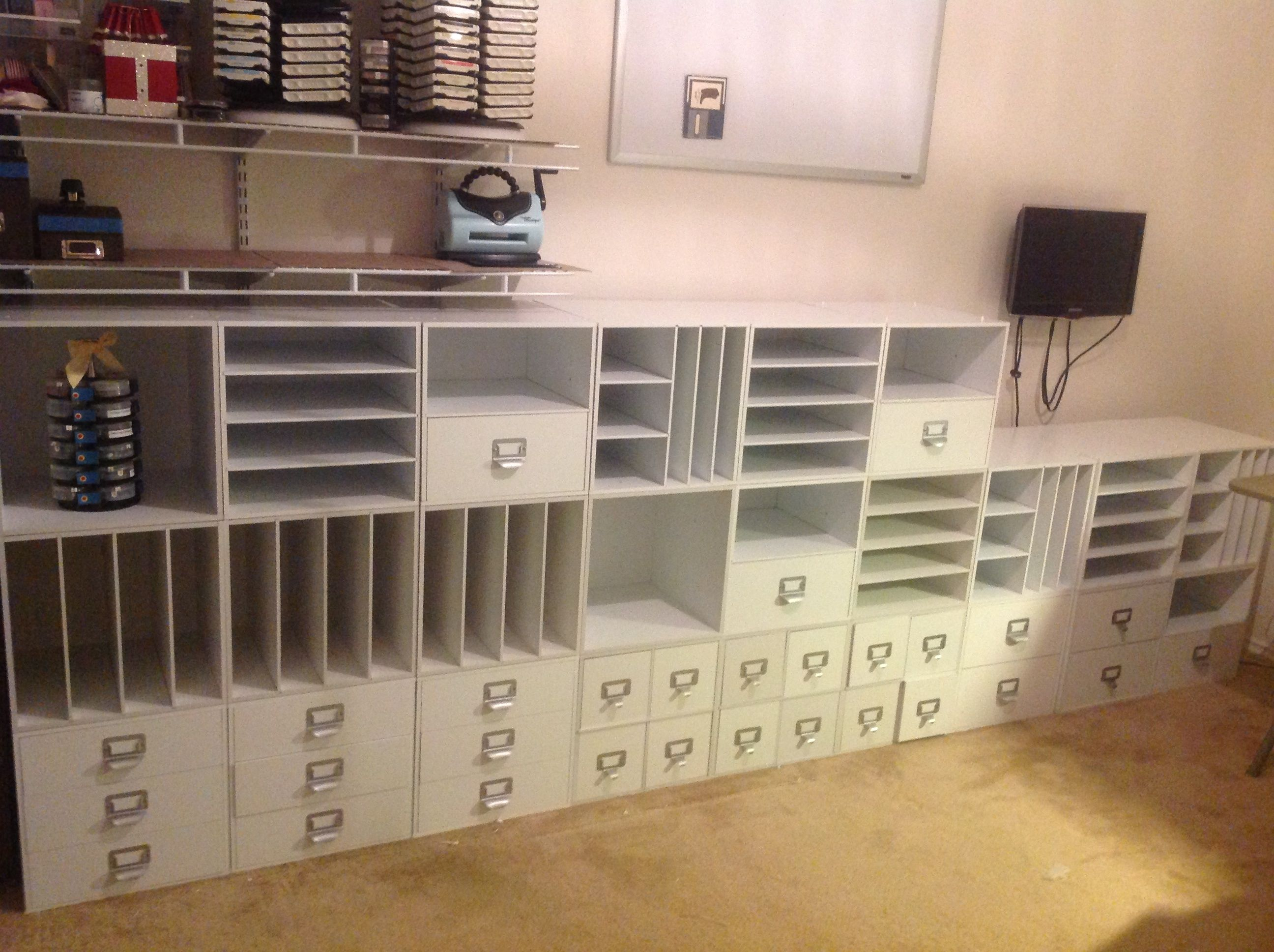 Storage Solutions For Craft Rooms: #papercraft #craftroom #organization. 26 Cubes Storage