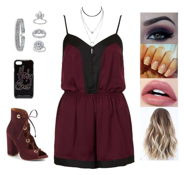 """Untitled #4921"" by sigalv ❤ liked on Polyvore featuring Topshop, Steve Madden, Bling Jewelry and Rebecca Minkoff"