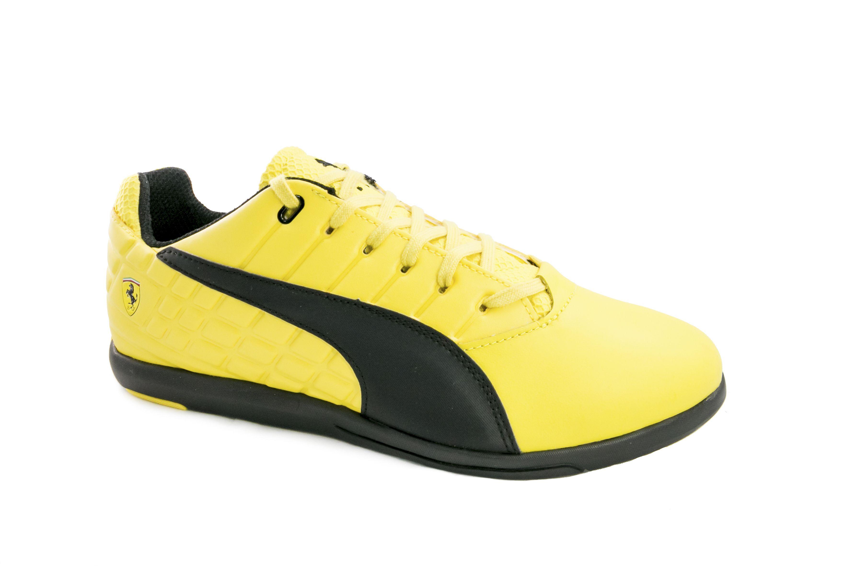 zapatillas puma ferrari amarillo