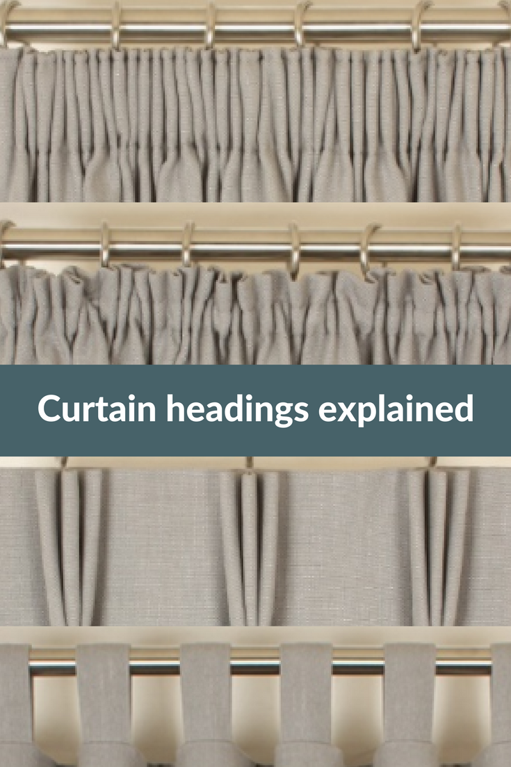 Explanation Of The Different Types Of Curtain Headings Curtain Styles Curtain Headings Curtains