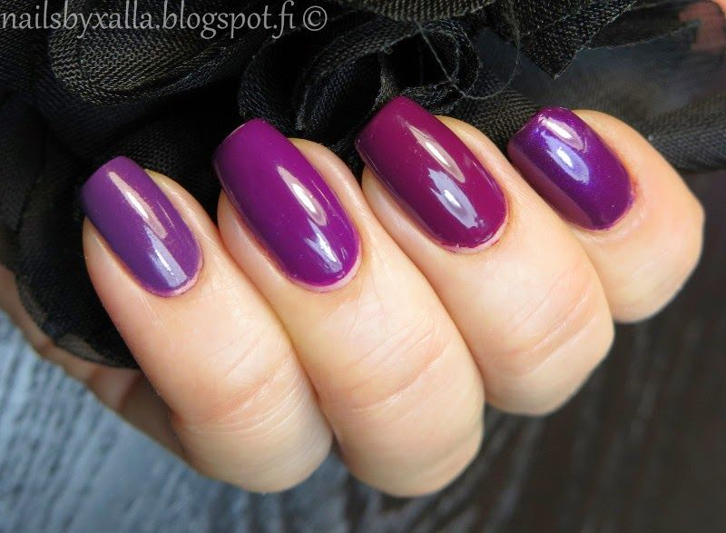 #ablecs15 Nothing but purple, OPI Casino Royale & Dutch Ya Just Love OPI & Louvre Me Louvre Me Not, Gina Tricot Boysenberry, purple nail polish