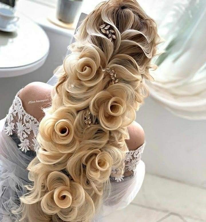 30 Creative And Unique Wedding Hairstyle Ideas: Wow!! Simply Beautiful! #art