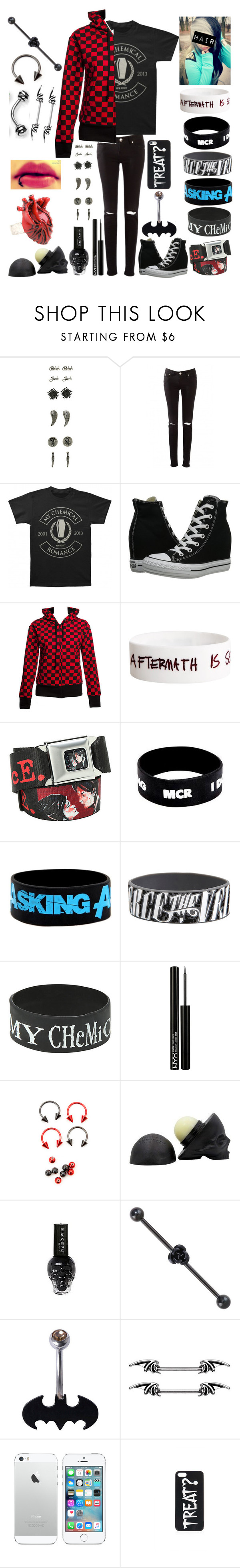 """Style #275"" by katlanacross ❤ liked on Polyvore featuring Converse, NYX, Topshop, women's clothing, women, female, woman, misses and juniors"