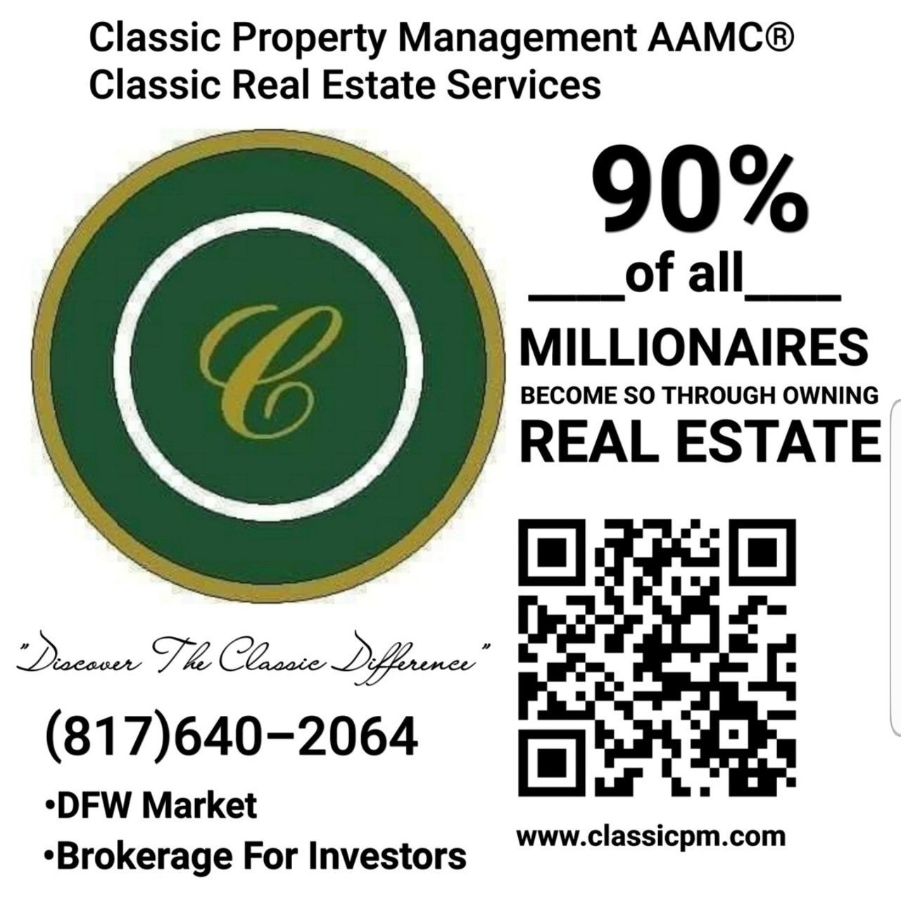 Classic Property Management Aamc Offers The Most Comprehensive Full Service Property Management Avai With Images Property Management Dfw Real Estate Real Estate Services