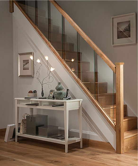Axxys Reflections Oak and Glass 12 Step Staircase and Landing Balustrade Kit #staircaseideas