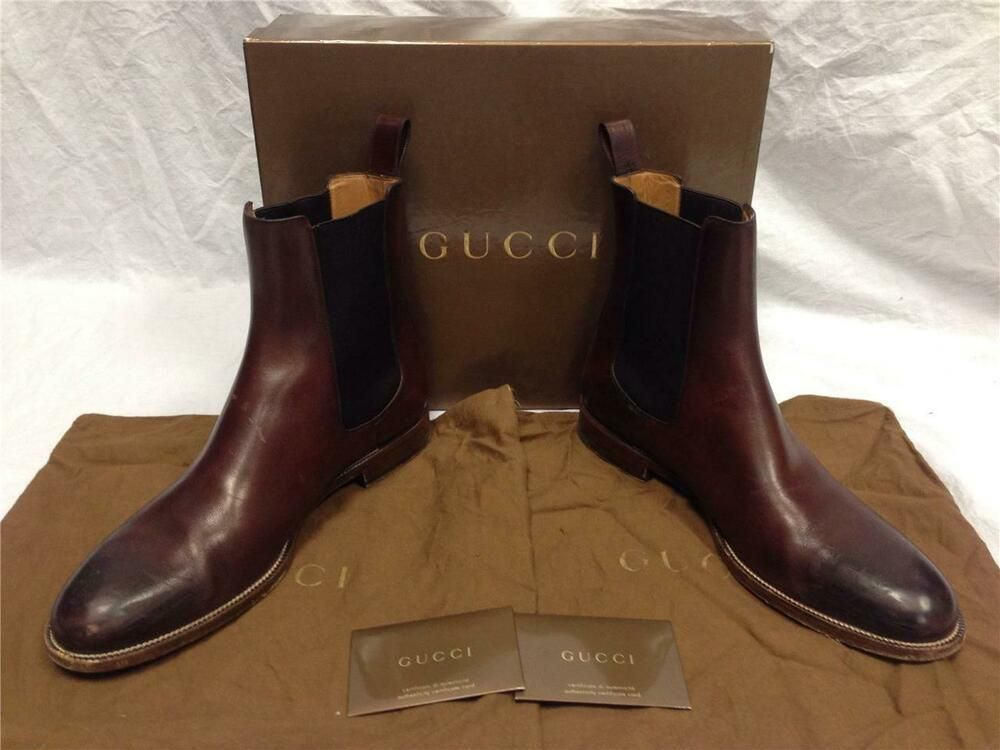 Gucci Men's Size 12 D Brown Leather