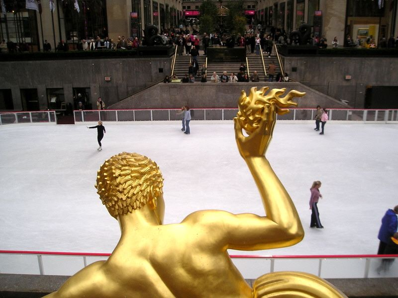 Wanted to show a different side of the ice rink at Rockefeller Center.