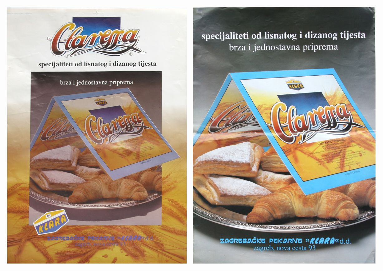 In 1994 Ozeha Has Created Brand Claressa Frozen Products Of Puff Pastry For Zagreb Bakery Company Kl Creating A Brand Advertising Material Advertising Agency