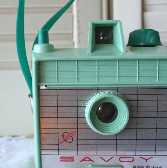 Vintage Savoy Camera in Mint Green