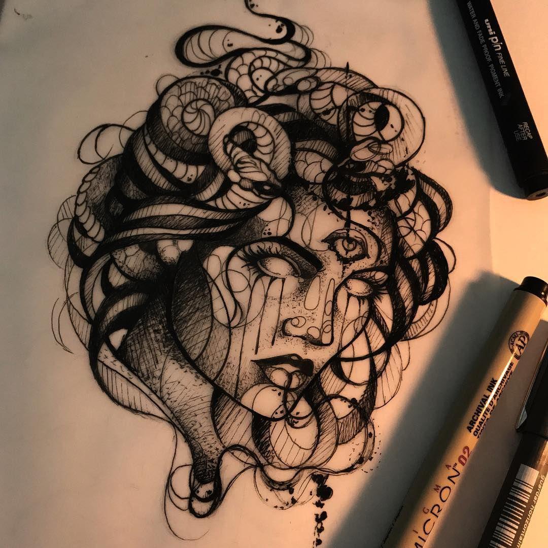 Medusa Artwork Tattoo: Pin On Medusa