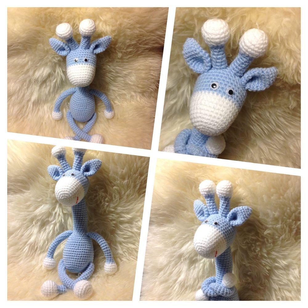 Spielzeug Häkeltier Kuscheltier Giraffe Amigurumi Toy Baby Kinder ...
