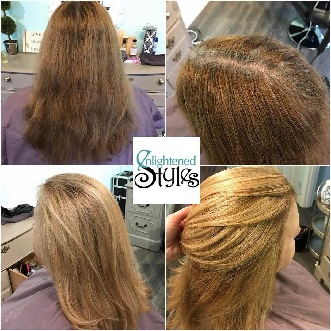 Strawberry blonde hair Organic hair color Holistic hair
