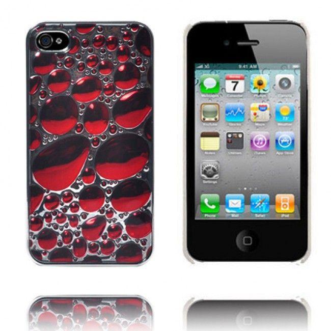 Bubbles (Viininpunainen) iPhone 4S Suojakuori - http://lux-case.fi/bubbles-viininpunainen-iphone-4s-suojakuori.html