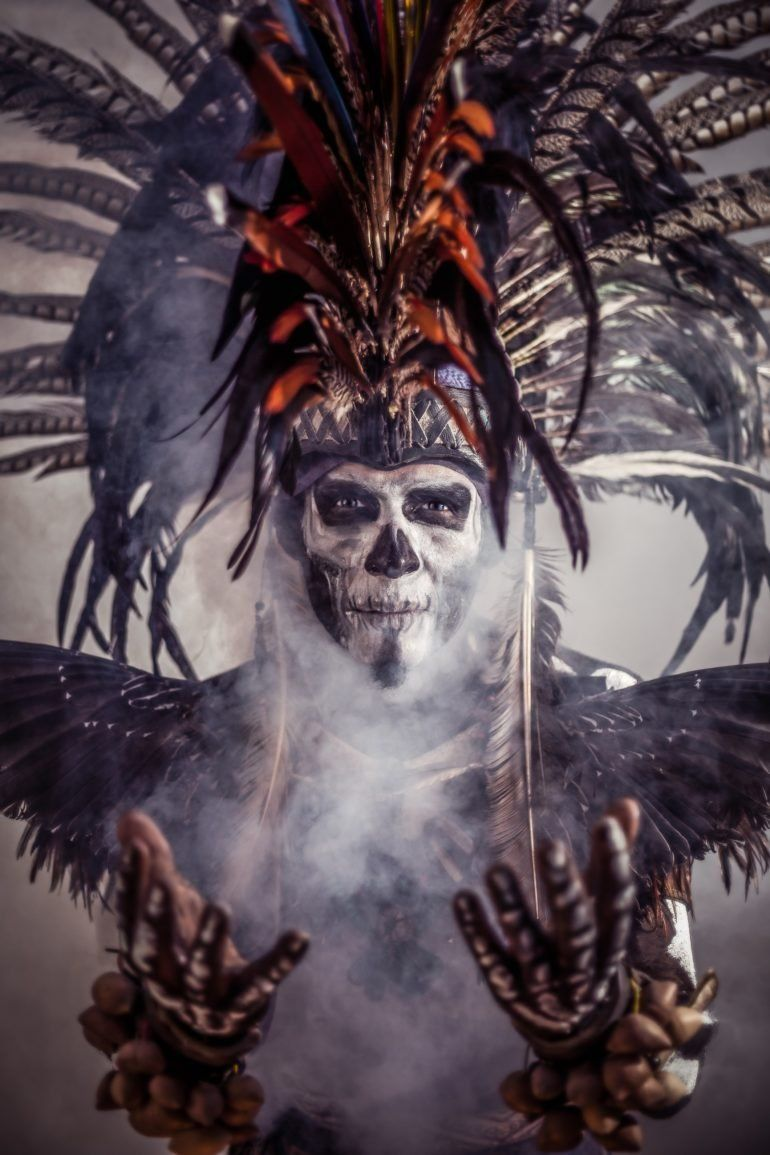 JP Stones Recreates Indigenous Aztec Myths with Cinematic Portraits #aztec
