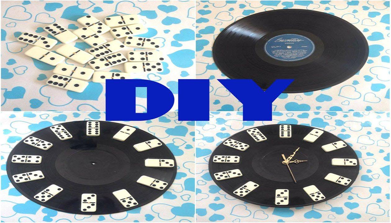 949279ae672 DIY - Relógio com Disco de Vinil e Dominó