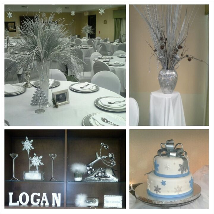 Winter wonderland baby shower theme elegant