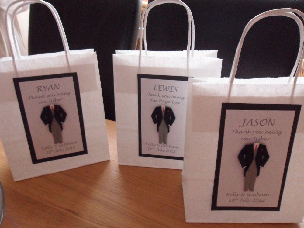 Personalised Best Man Usher Gift Bag Small Medium Usher Gift Bags