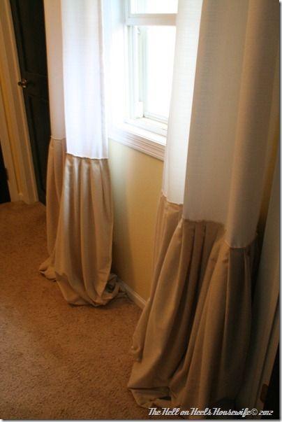 Great Way To Make Too Short Curtains Long Enough