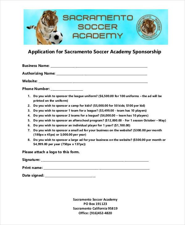 8+ Sponsorship Application Templates u2013 Free Sample, Example - how to write a sponsor proposal