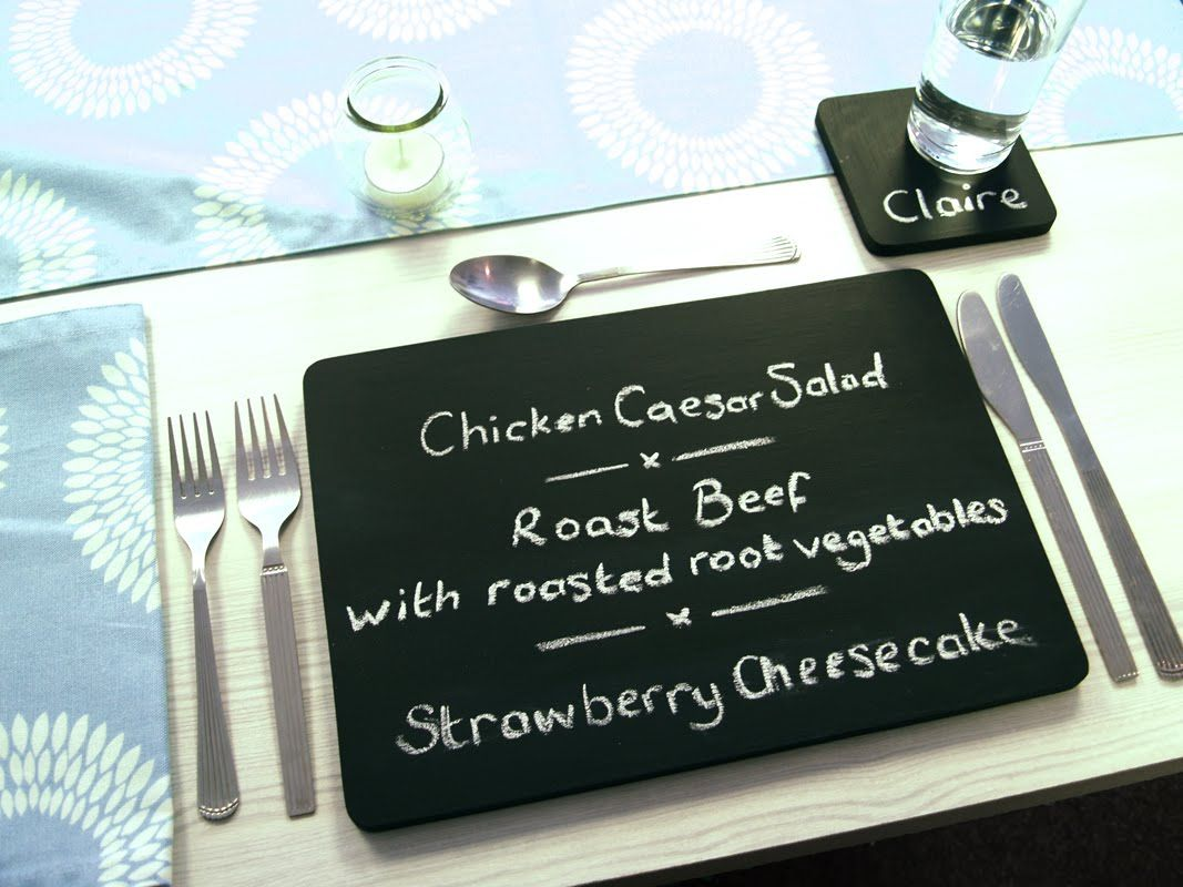 Chalkboard Placemat Chalkboard Placemats Homemade Chalkboard Paint Diy Placemats