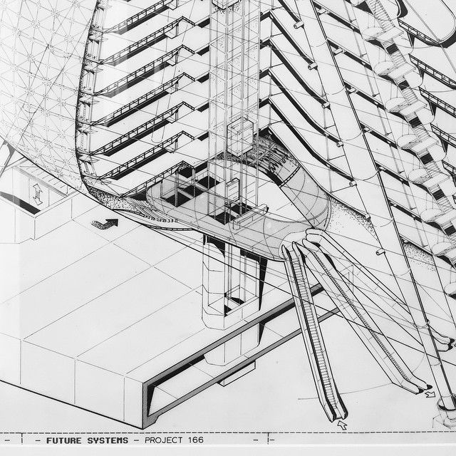 Cool Architecture Drawing by @chrisdove kaplicky detail #art #arqsketch #architecture