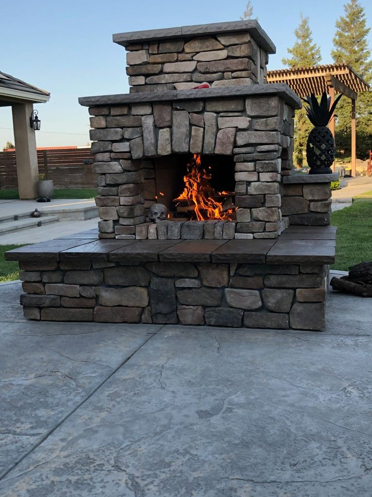 Homeowner Built Diy Outdoor Fireplace Backyard Fireplace Outdoor Fireplace Plans Outdoor Fireplace