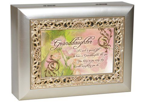 Granddaughter Jewelry Box Custom Cottage Garden Granddaughter Music Jewelry Box Plays You Ligh