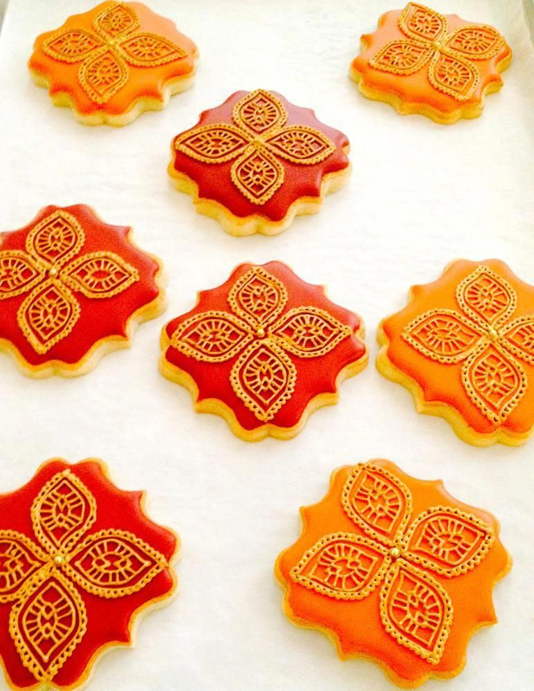Indian Weddings Inspirations. Henna Wedding Cookies