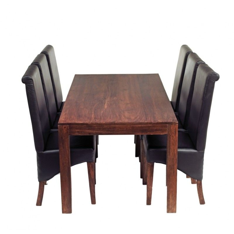 All Wood Dining Room Chairs Attractive Wooden Dining Table Leather Chairs  Dining Table Ideas