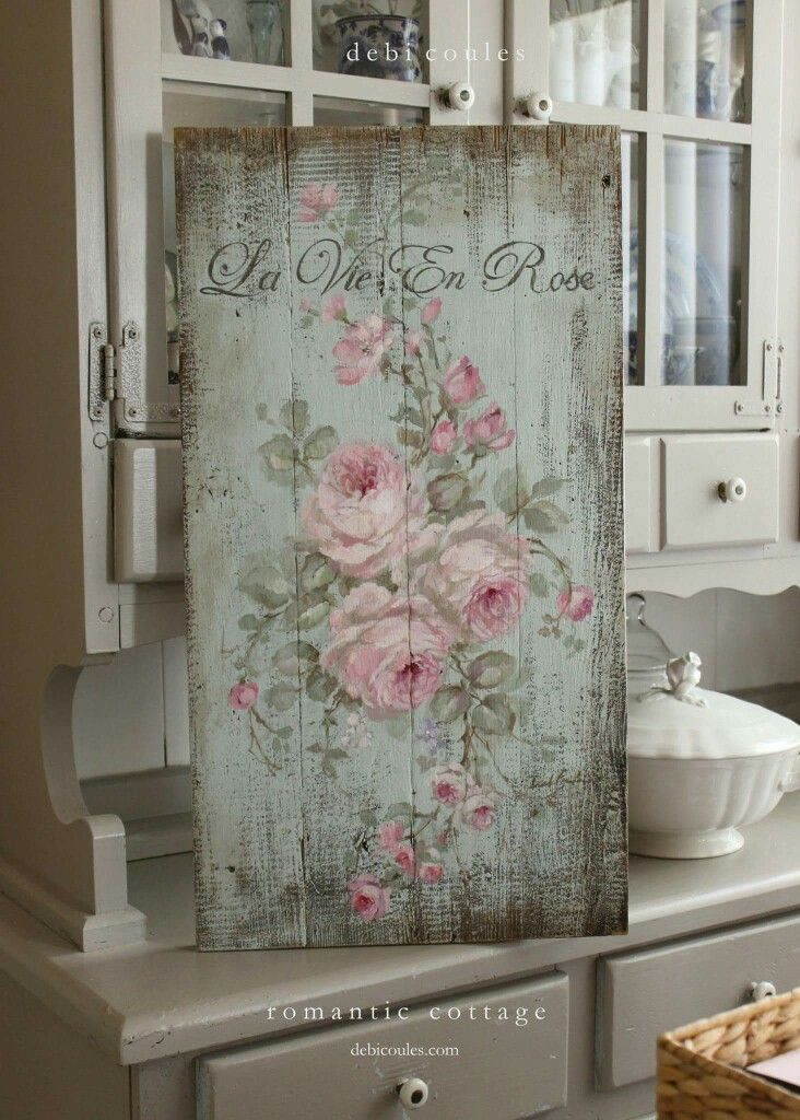Barn wood Shabby Chic French Sign | Decoración | Pinterest | Cuadro ...