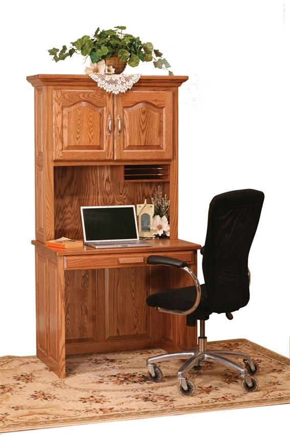 Amish Flat Top Computer Desk With Hutch 36