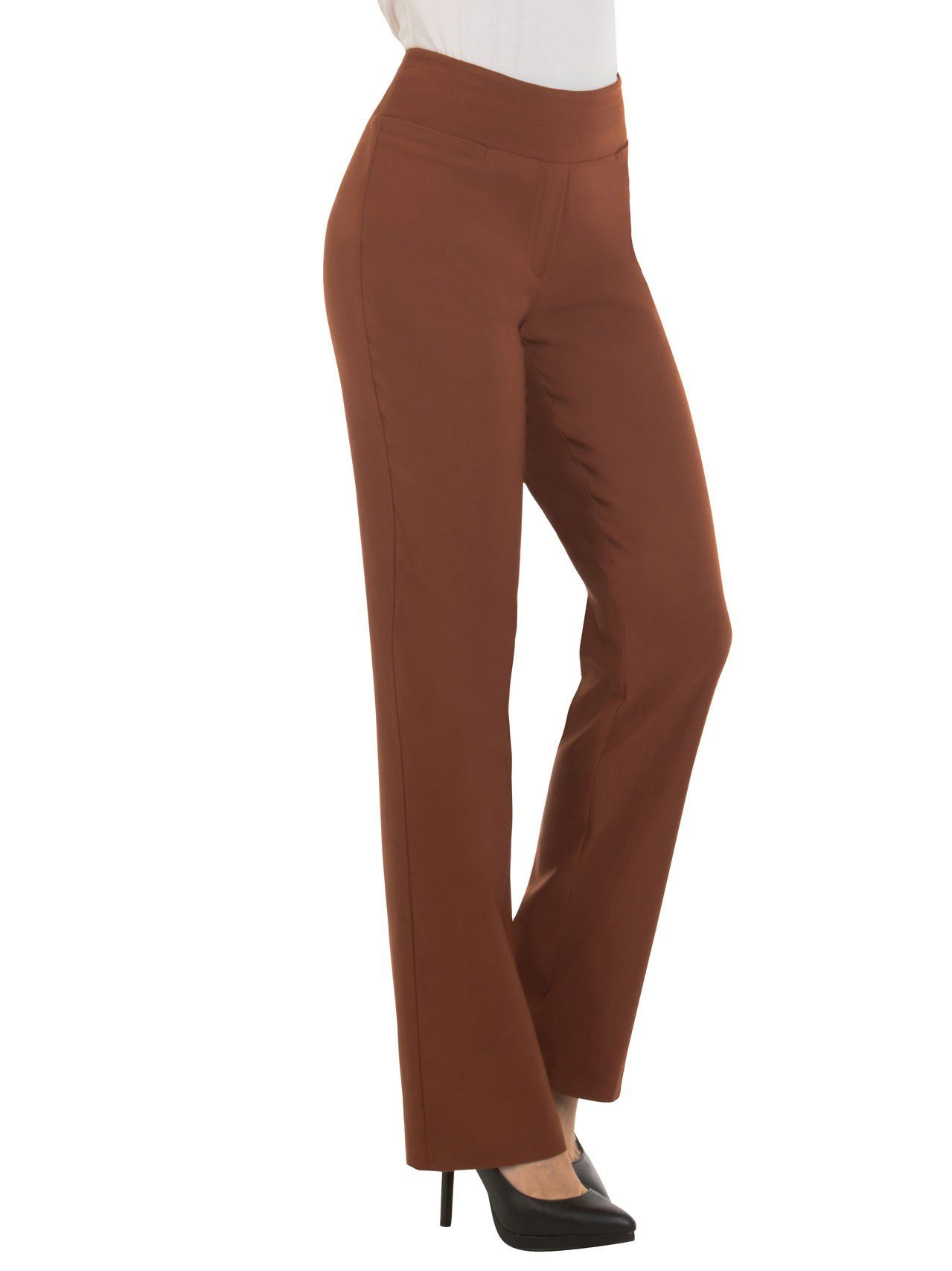 a98124947fedd Red Hanger Bootcut Dress Pants for Women Stretch Comfy Work Pull on Womens  Pant RustS