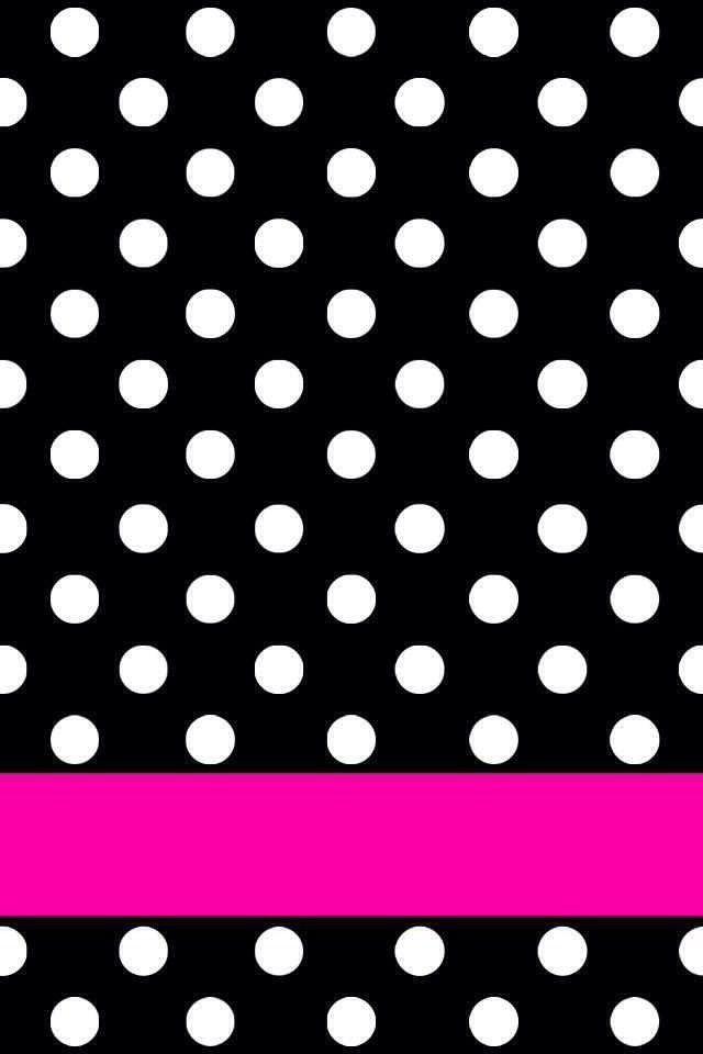 black n white dots pink stripe wallpapers pinterest