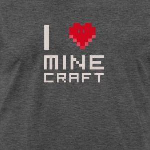 I Love MC Liebe Computerspiele Nerd Quader Miene Männer Premium T - Minecraft computerspiele