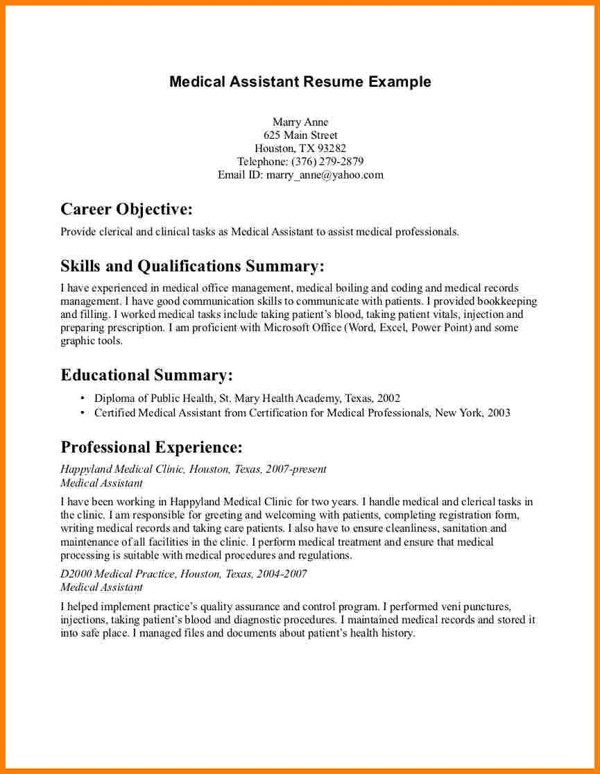 Resume Examples Skills Best Assistant Resume Objective Examples Medical Example Skills Http Design Ideas
