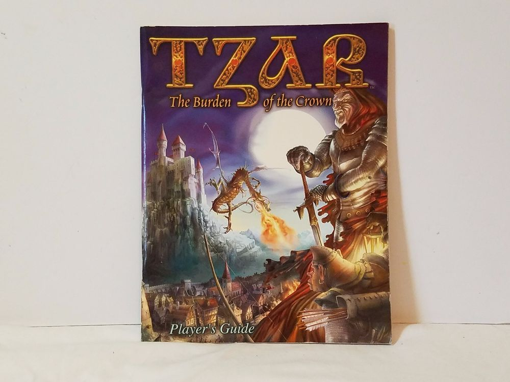 Tzar The Burden of the Crown PC Player's Guide Book ONLY