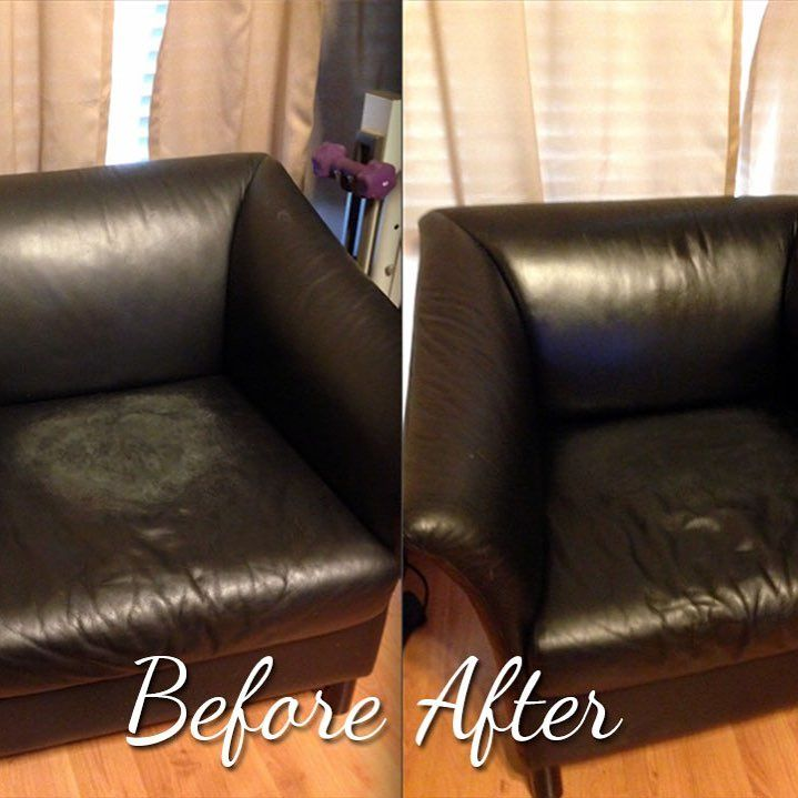 A Customer Submitted Their Severely Damaged Leather Chair Before