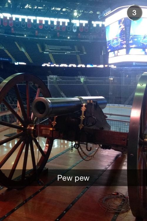 From the Columbus Blue Jackets snapchat