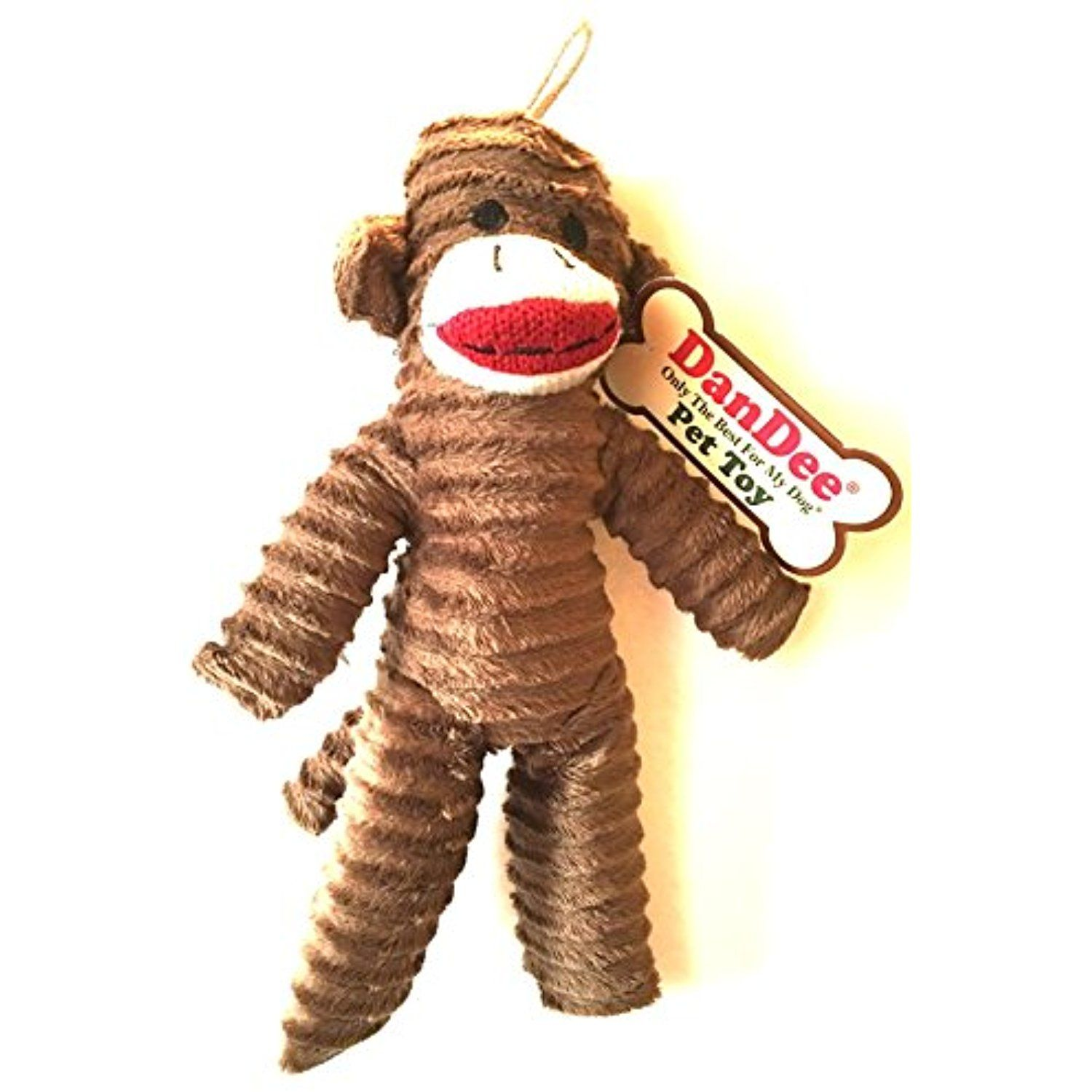 DanDee Only The Best For My Dog Pet sock Monkey Toy (Brown