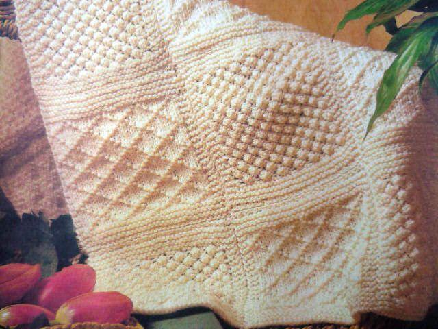 Knitting Pattern Aran Throw 8ply Popular Designn 1 Knitting