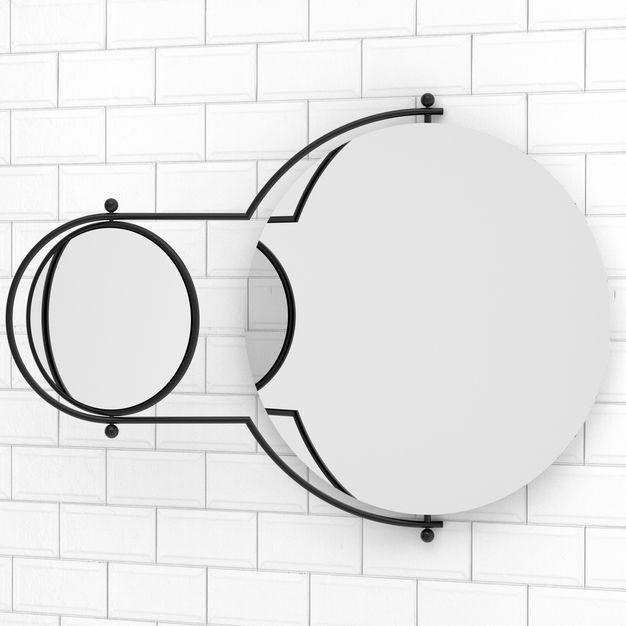 Orbit Mirror Mirror Bathroom Red Bathroom Styling