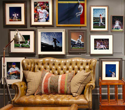 The Perfect Man Cave Gallery Wall Relive Your Favorite Baseball Moments From The Field With The Mlb Photography Collection From 2 Gallery Wall Home Decor Wall
