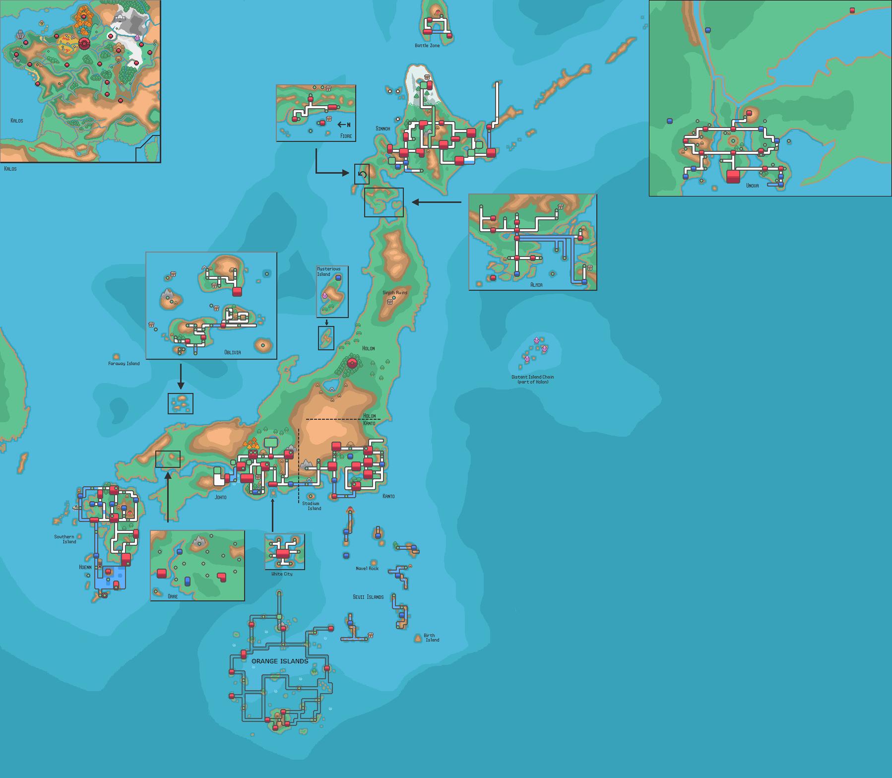 Map of the Pokemon world : pokemon | Maps | Pinterest | Pokémon and ...