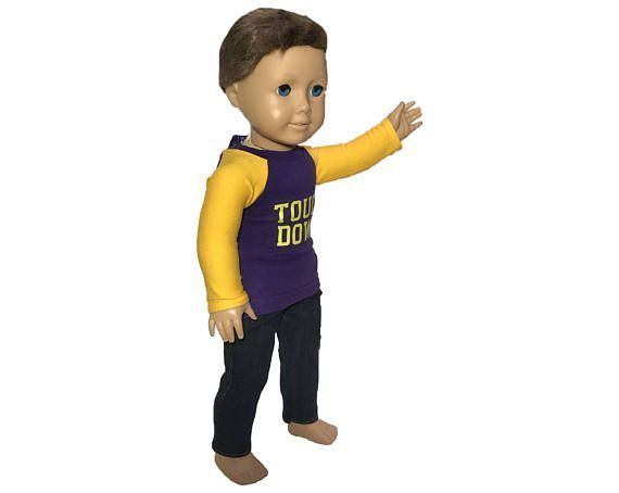 18 Inch Doll clothes Purple and Gold Football Fan Shirt #18inchcheerleaderclothes 18 Inch Doll clothes Purple and Gold Football Fan Shirt #18inchcheerleaderclothes 18 Inch Doll clothes Purple and Gold Football Fan Shirt #18inchcheerleaderclothes 18 Inch Doll clothes Purple and Gold Football Fan Shirt #18inchcheerleaderclothes