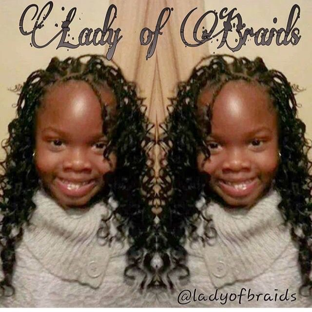 Little girls box braids  Protective for black girls  style for children  Curly natural hair